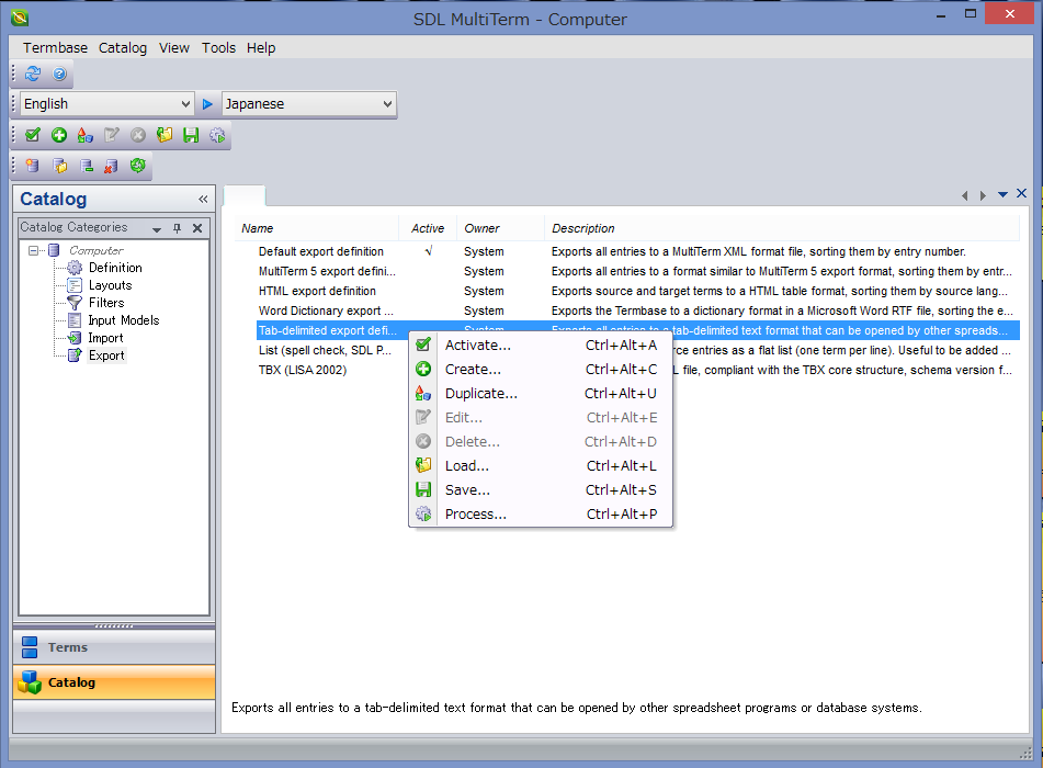replaceterm note export from multiterm